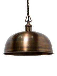 Rye Solid Brass Dome Pendant Light