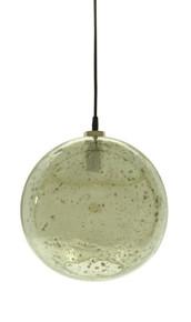 Lustre Glass Ball Stone Effect Pendant Light - Green