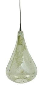 Lustre Glass Teardrop Stone Effect Pendant Light - Green