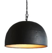 Noir Large Black Label Gold Pendant Light