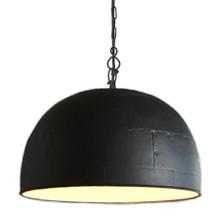 Noir Large Black Label White Pendant Light