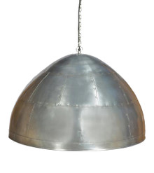 York Large Zinc Iron Riveted Dome Pendant Light