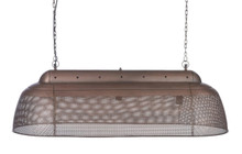 River Long Linear Copper Iron Pendant Light