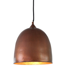 Beaten Copper Dome Pendant Light - Small