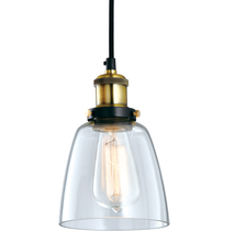 Industrial Vintage Glass Pendant Lamp