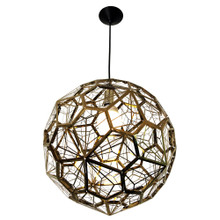 Pentagonal Gold Pendant Light