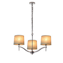 Grace 3 Light Chandelier by Viore Design-Natural Linen Shade