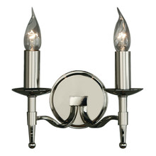 Stanford 2 Light Candle Nickel Wall Lamp