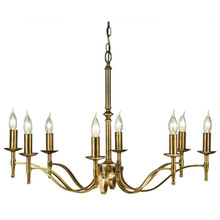 Stanford 8 Light Candle Brass Chandelier from Viore Design