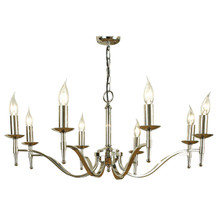 Stanford 8 Light Candle Nickel Chandelier