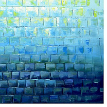 Aqua Tiles Canvas Painting