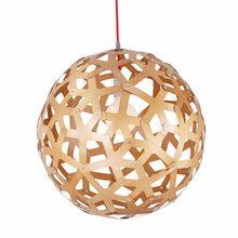 Bach Coral Wood Ball Pendant Light