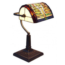 Geometric Banker Table Lamp