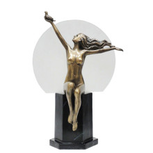 Art Deco Nude Woman Table Lamp