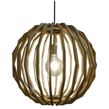 Pelota Wood Ball Pendant Light