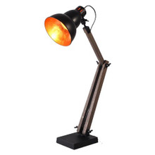 Industrial Black Telegram Table Lamp