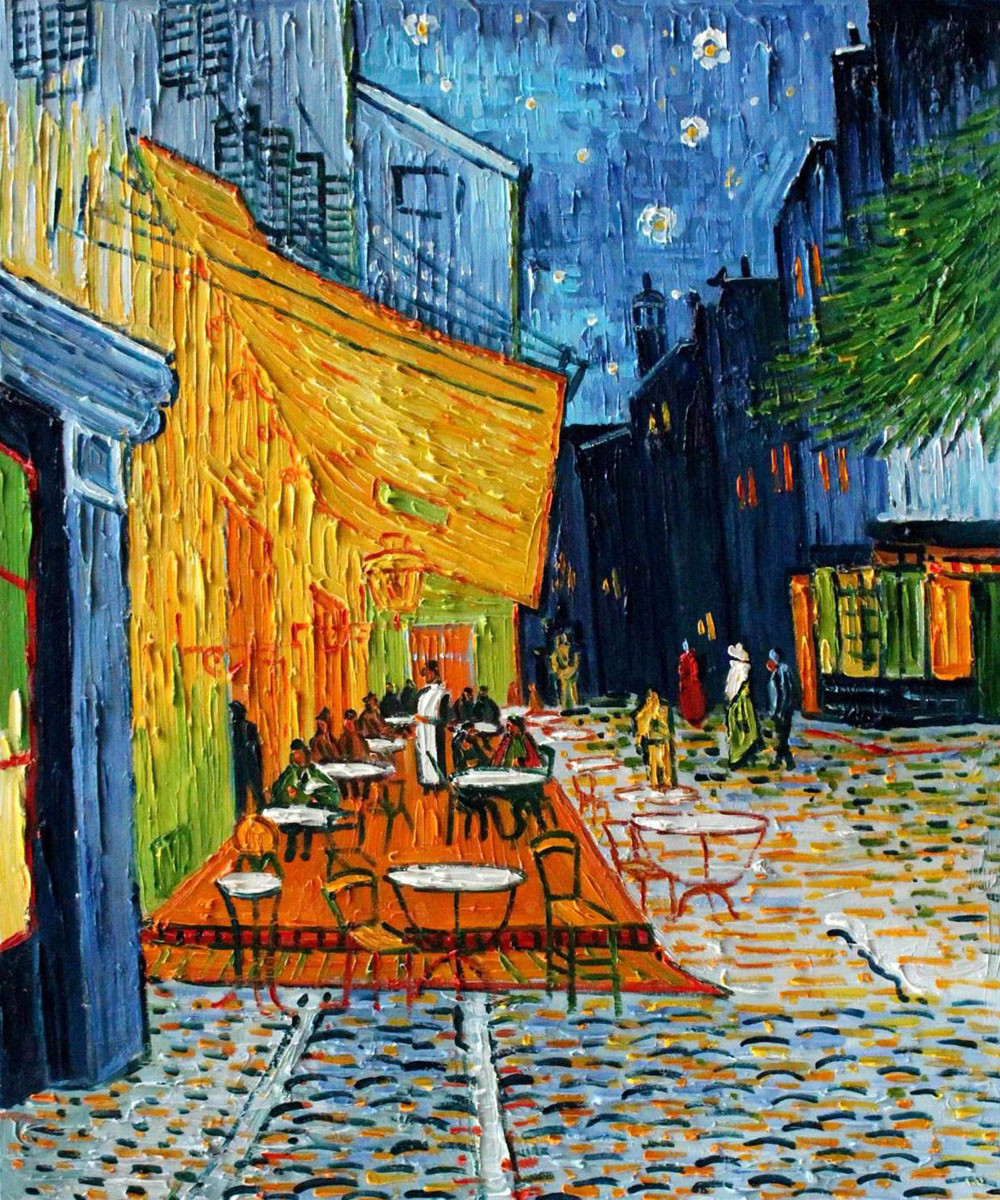 6363c0172ba Cafe Terrace by Van Gogh Oil Painting Reproduction. Loading zoom