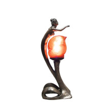 Lady Earth and Fire Art Deco Lamp