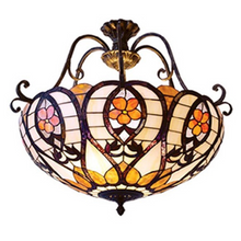 Inverted Honey Tiffany Pendant Light
