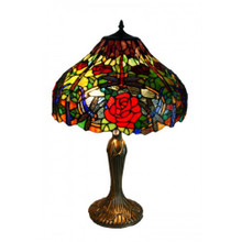 Rose Forest Art Glass Table Lamp