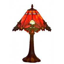 32cm Red Butterfly Art Glass Table Lamp