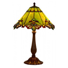 44cm Green Butterfly Art Glass Table Lamp