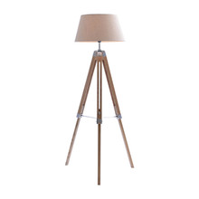 Nautical Marine Beige Tripod Floor Lamp