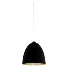 Egg Black Label Silver Pendant Light