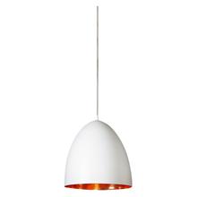 Egg White Label Copper Pendant Light