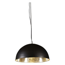 Alfresco Dome Black & Silver Pendant Light