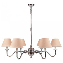 Prescot 6 Arm Antique Silver Chandelier