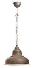 Brasserie Overhead Rust Pendant Lamp - Small