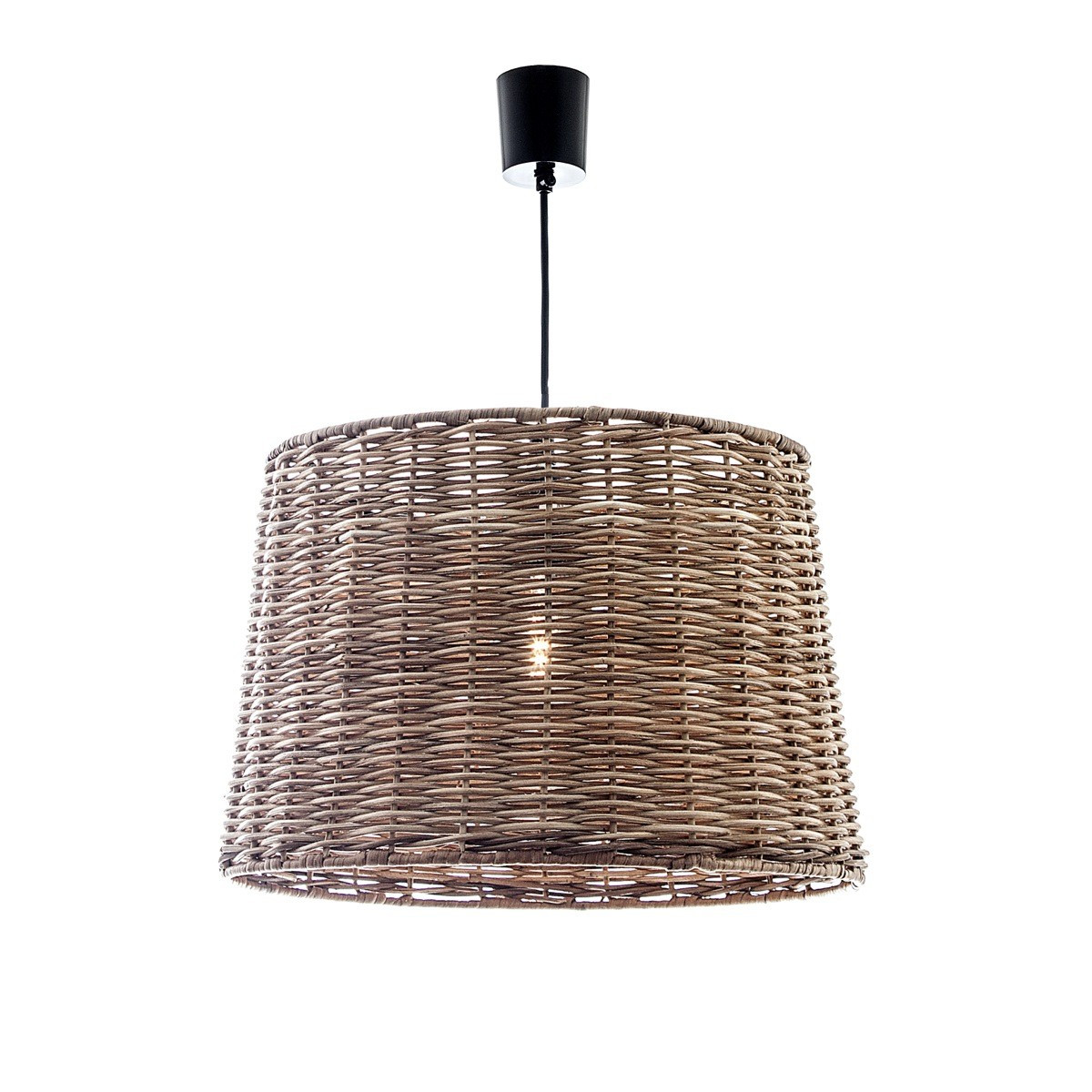 Wicker round hanging pendant light zest lighting
