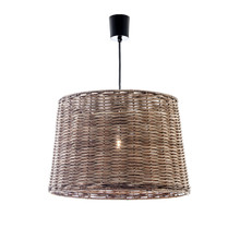 Wicker Round Hanging Pendant Light - Small