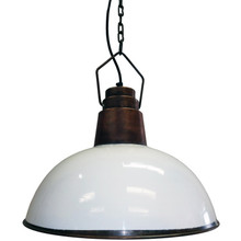 White Copper Iron Hanging Pendant Lamp