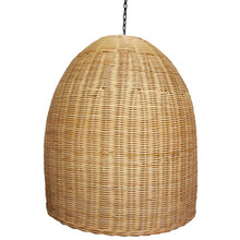 Rattan Natural Dome Pendant Light