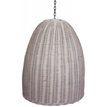 Rattan White Dome Pendant Light