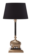 Sabu Dark Antique Brass Table Lamp