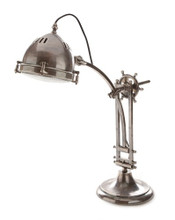 Seabury Antique Silver Desk Lamp