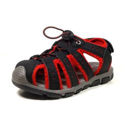 Nova Utopia Toddler Little Boys Girls Summer Sandal Sneakers Black//Red Size 12