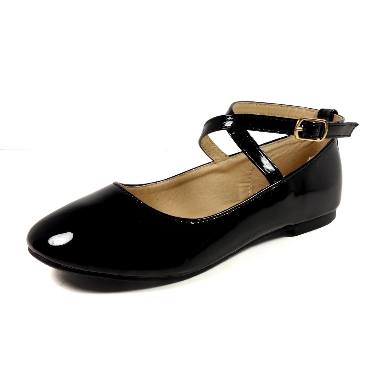 486674f7ba38 ... Nova Utopia Toddler Little Girls Flat Shoes - NFGF041 Black Patent.  Loading zoom
