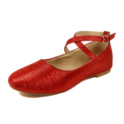 Nova Utopia Toddler Little Girls Flat Shoes - NFGF041 Red Glitter