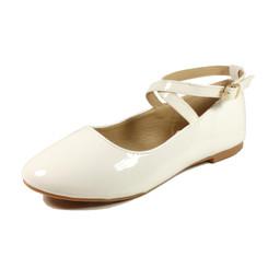 Nova Utopia Toddler Little Girls Flat Shoes - NFGF041 White Patent
