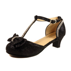 Nova Utopia Girls Heel Sandals - NFGF058 Black