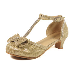 Nova Utopia Girls Heel Sandals - NFGF058 Gold