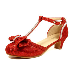Nova Utopia Girls Heel Sandals - NFGF058 Red