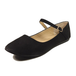 Nova Utopia Women's Mary Jane Flats - NFLA01 Black Suede