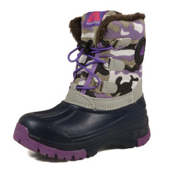 Nova Toddler Little Kid's Winter Snow Boots - Girl WB01 Camouflage Purple