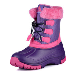 Nova Toddler Little Kid's Winter Snow Boots - Girl WB01 Purple Fuchsia