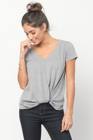 Heathered Cross Front Tee
